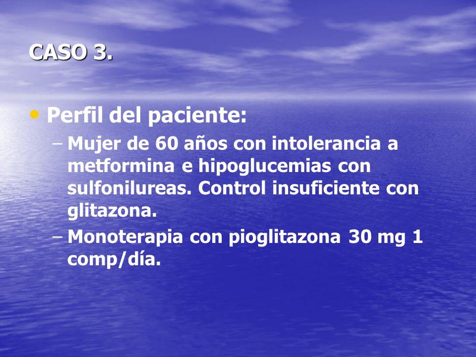 CASO 3. Perfil del paciente: