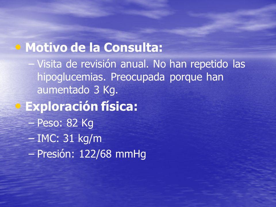 Motivo de la Consulta: Exploración física:
