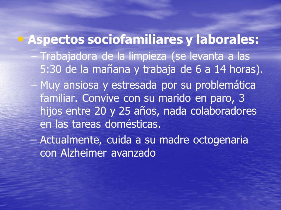 Aspectos sociofamiliares y laborales: