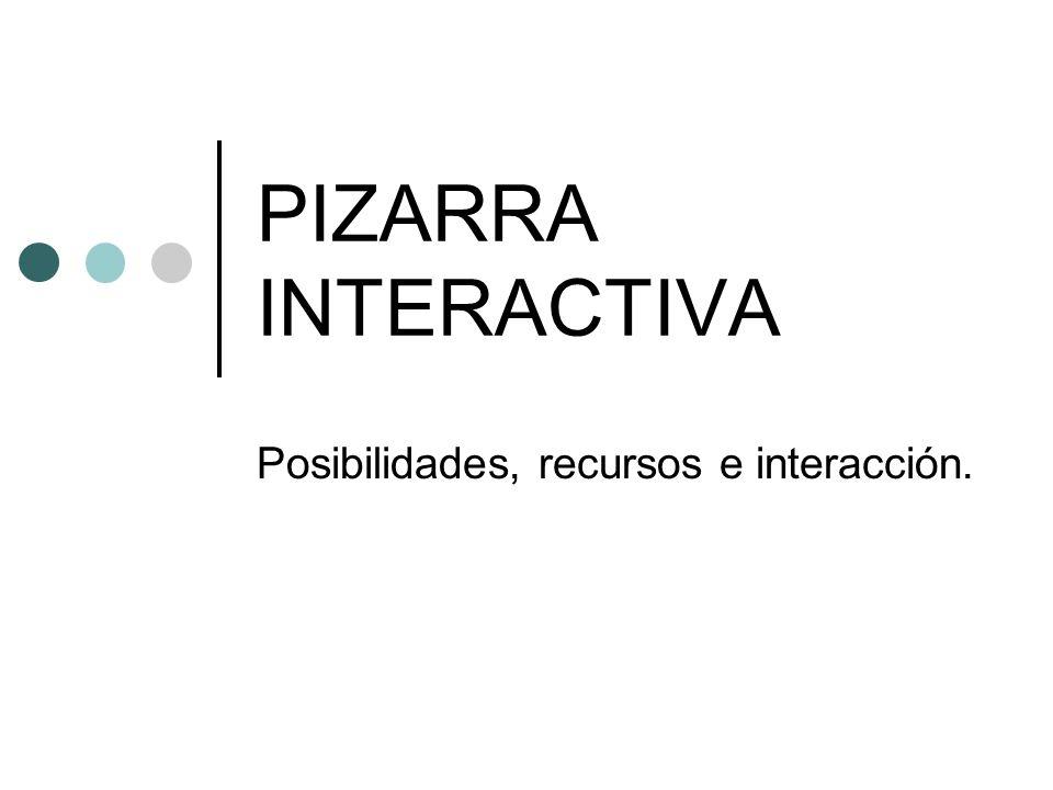 Posibilidades, recursos e interacción.