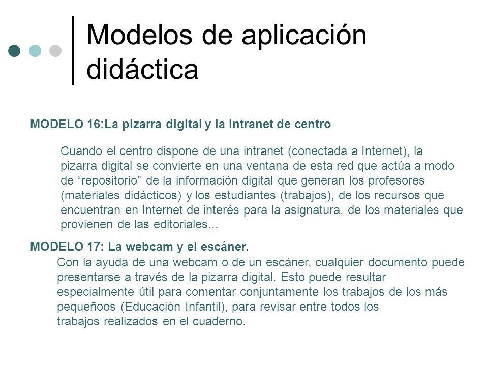 Modelos de aplicación didáctica