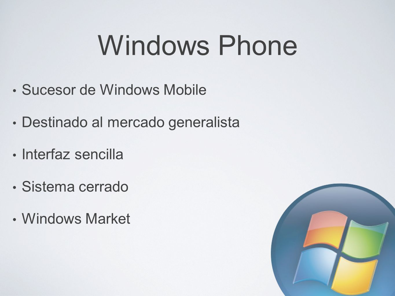 Windows Phone Sucesor de Windows Mobile