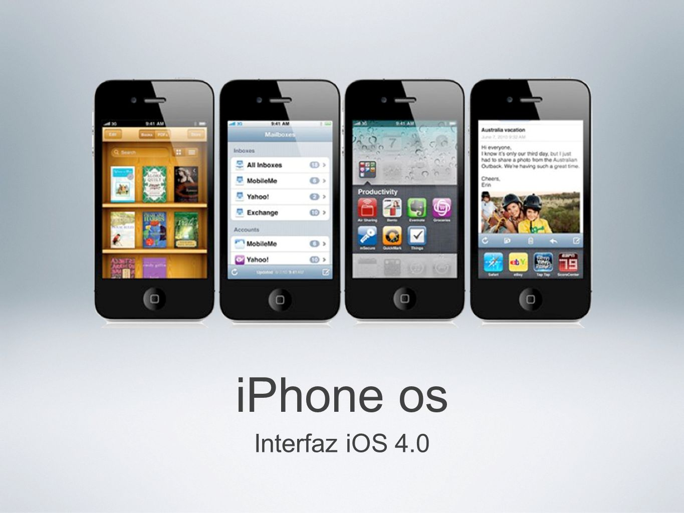 iPhone os Interfaz iOS 4.0