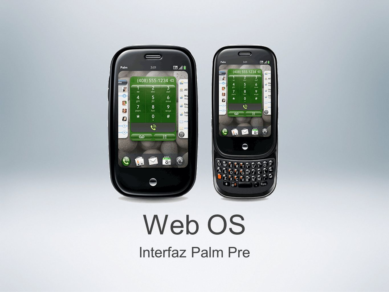 Web OS Interfaz Palm Pre