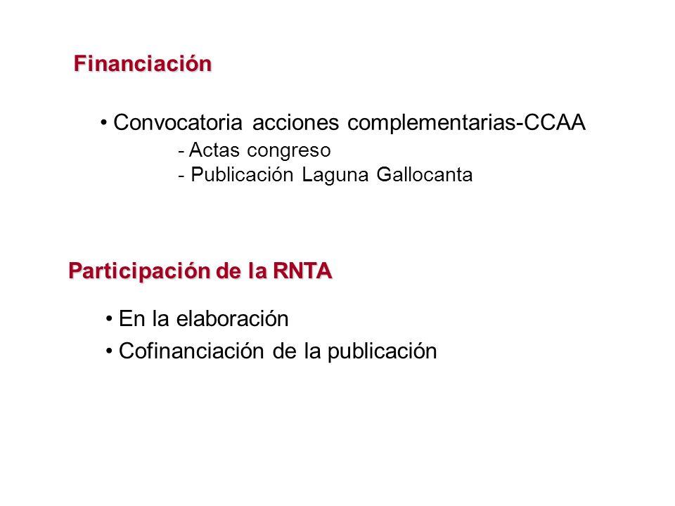 Convocatoria acciones complementarias-CCAA