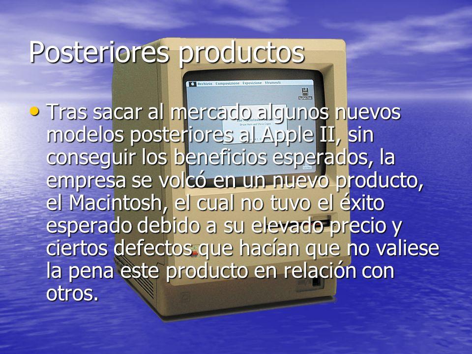Posteriores productos