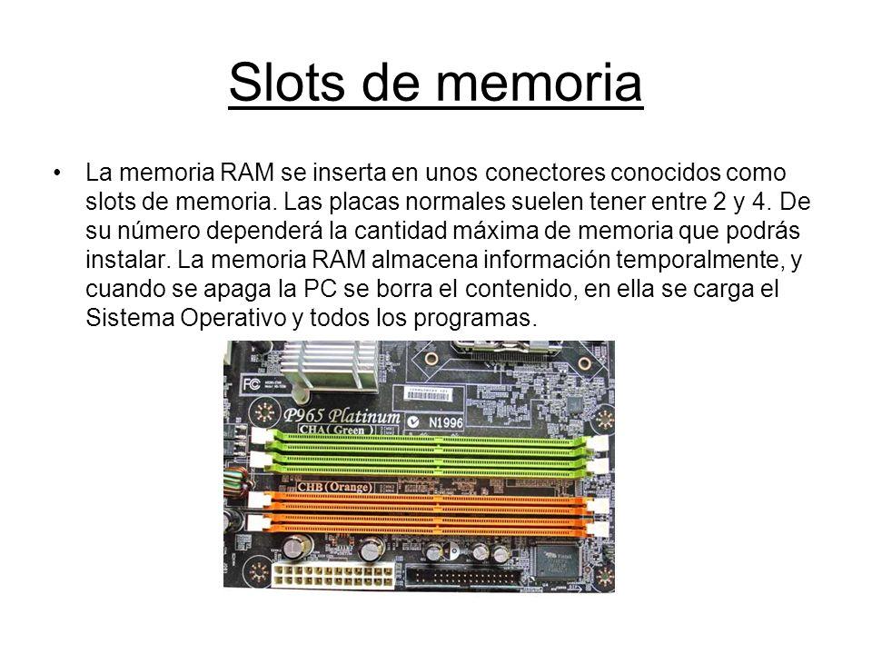 Slots de memoria