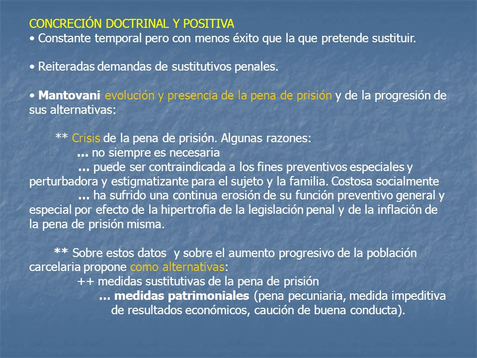CONCRECIÓN DOCTRINAL Y POSITIVA