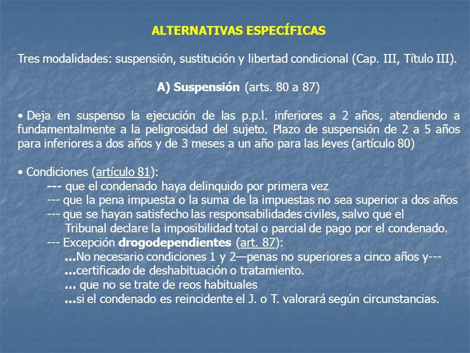 ALTERNATIVAS ESPECÍFICAS