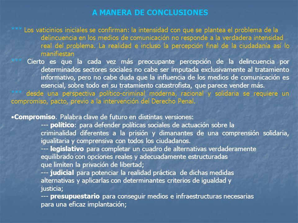 A MANERA DE CONCLUSIONES