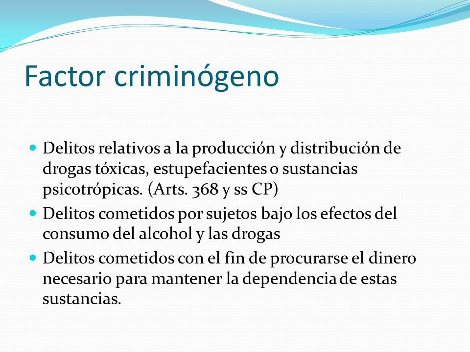 Factor criminógeno