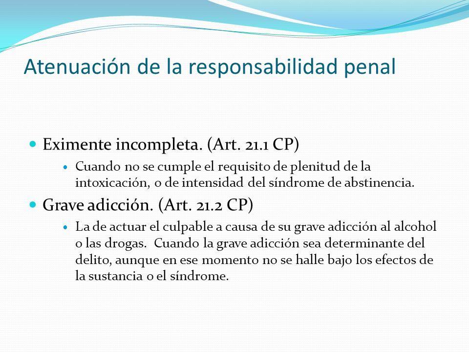 Atenuación de la responsabilidad penal
