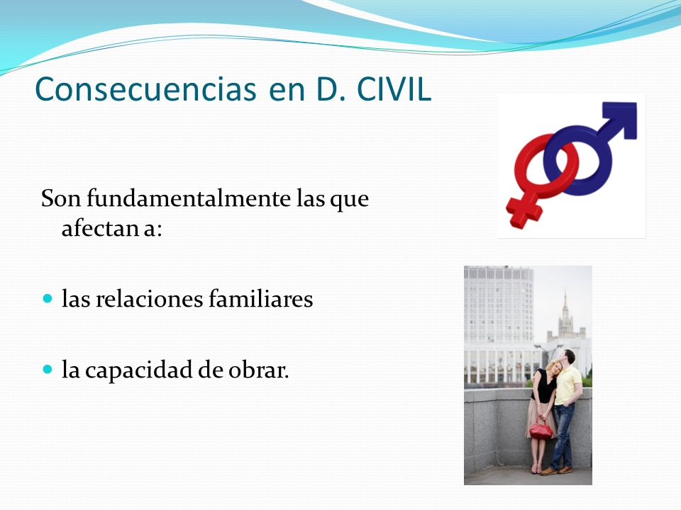 Consecuencias en D. CIVIL