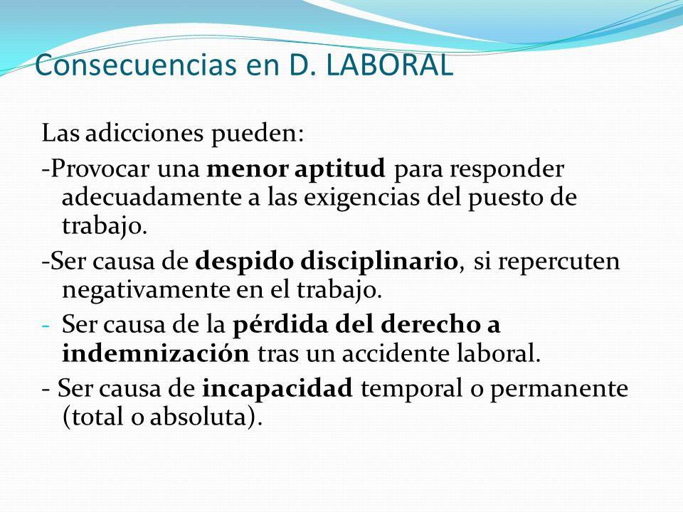 Consecuencias en D. LABORAL