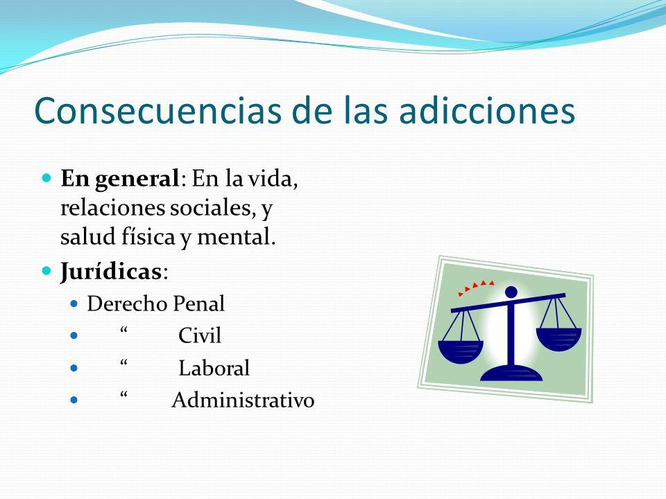 Consecuencias de las adicciones
