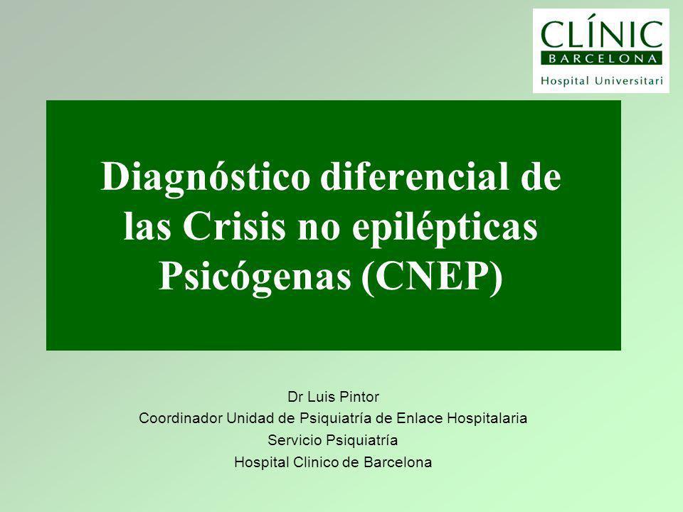 Diagnóstico diferencial de las Crisis no epilépticas Psicógenas (CNEP)