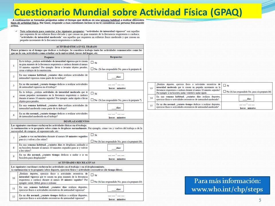 Cuestionario Mundial sobre Actividad Física (GPAQ)