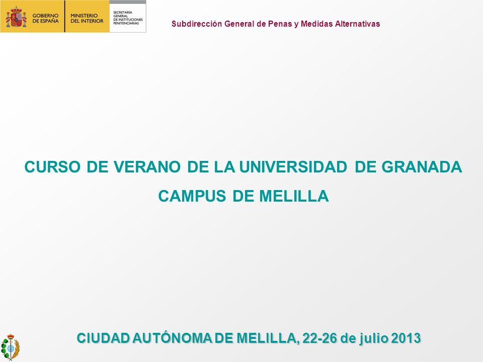 CURSO DE VERANO DE LA UNIVERSIDAD DE GRANADA CAMPUS DE MELILLA