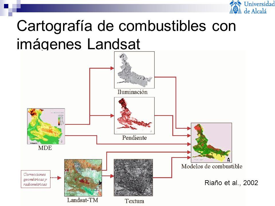 Cartografía de combustibles con imágenes Landsat