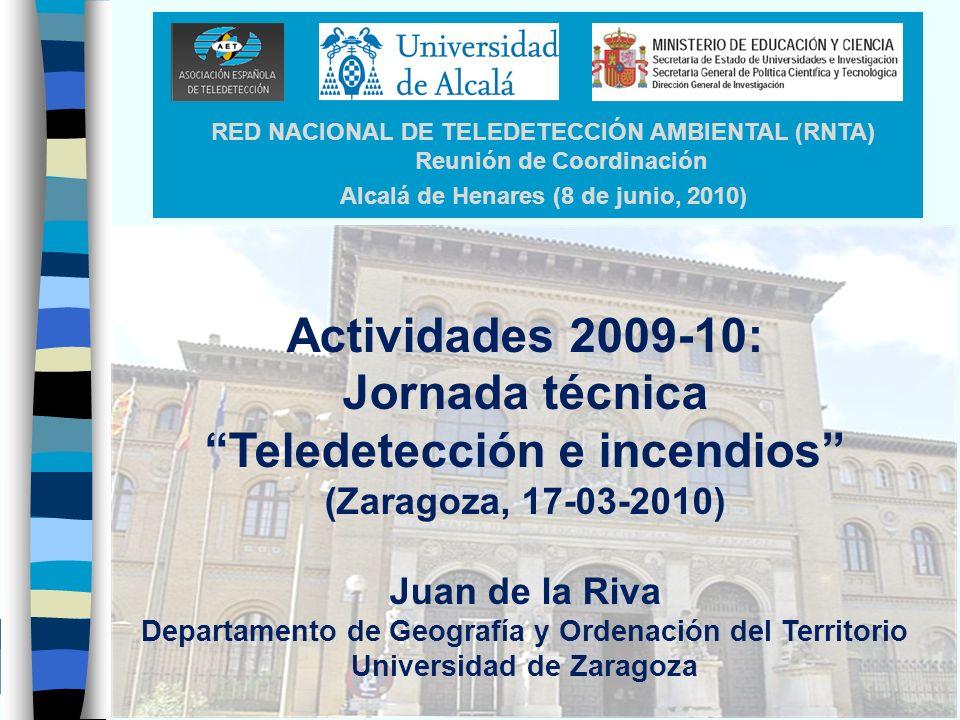 Actividades 2009-10: Jornada técnica Teledetección e incendios