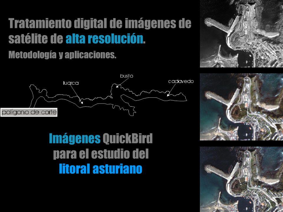 Tratamiento digital de imágenes de satélite de alta resolución.
