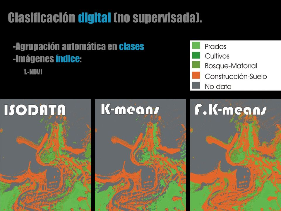 Clasificación digital (no supervisada).