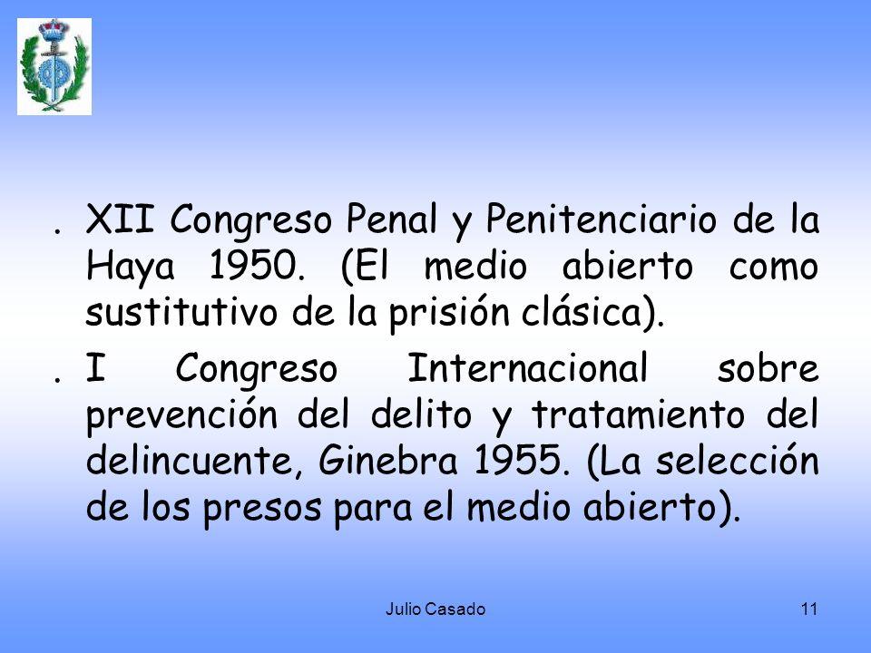 XII Congreso Penal y Penitenciario de la Haya 1950