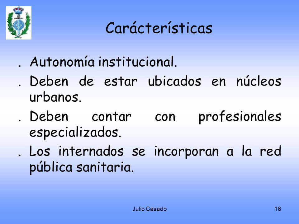 Carácterísticas . Autonomía institucional.