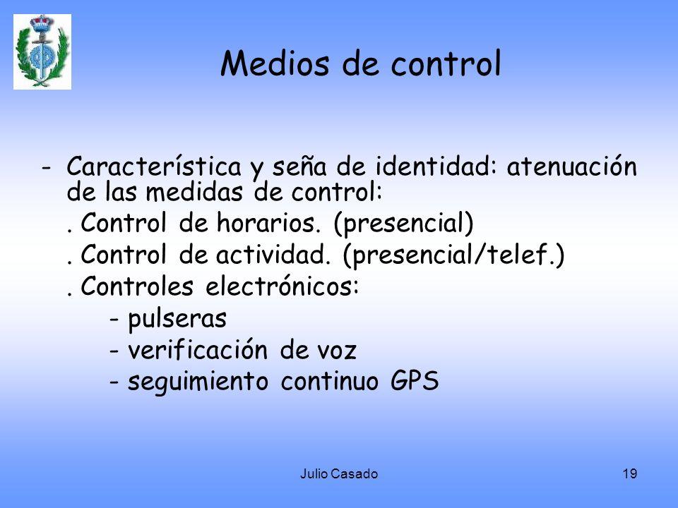 Medios de control - Característica y seña de identidad: atenuación de las medidas de control: . Control de horarios. (presencial)