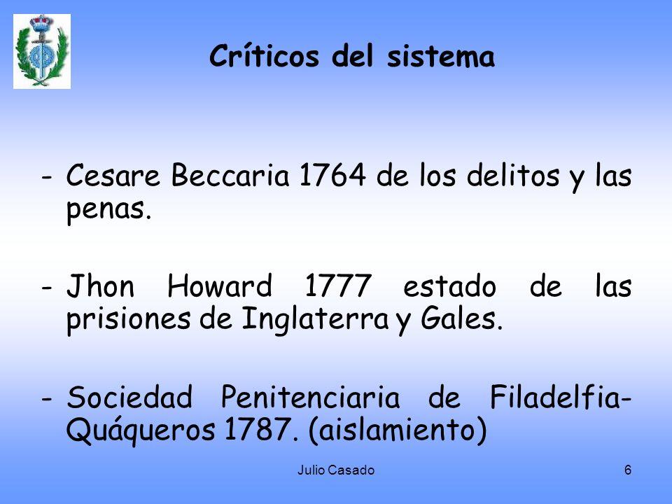 Cesare Beccaria 1764 de los delitos y las penas.