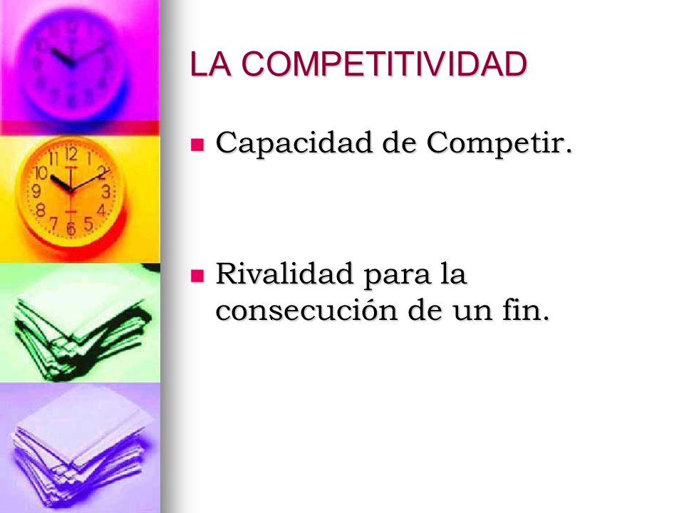 LA COMPETITIVIDAD Capacidad de Competir.