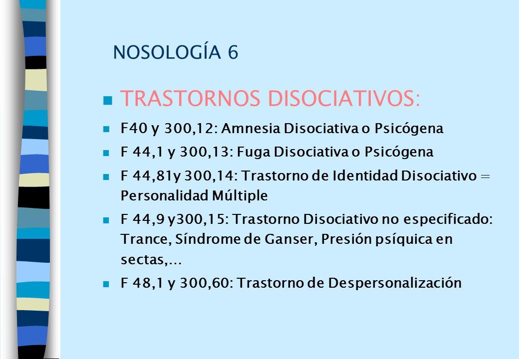 TRASTORNOS DISOCIATIVOS: