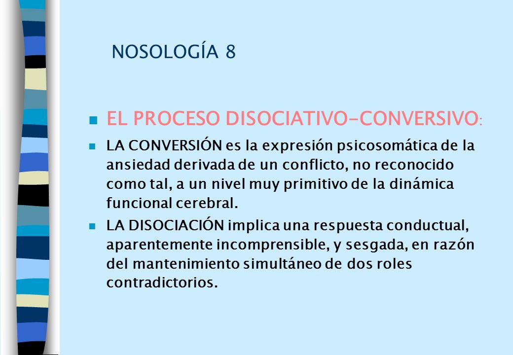 EL PROCESO DISOCIATIVO-CONVERSIVO: