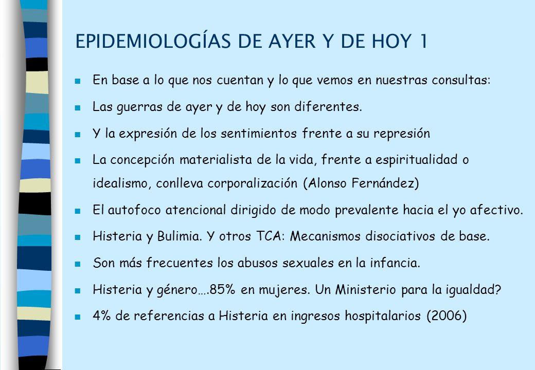 EPIDEMIOLOGÍAS DE AYER Y DE HOY 1