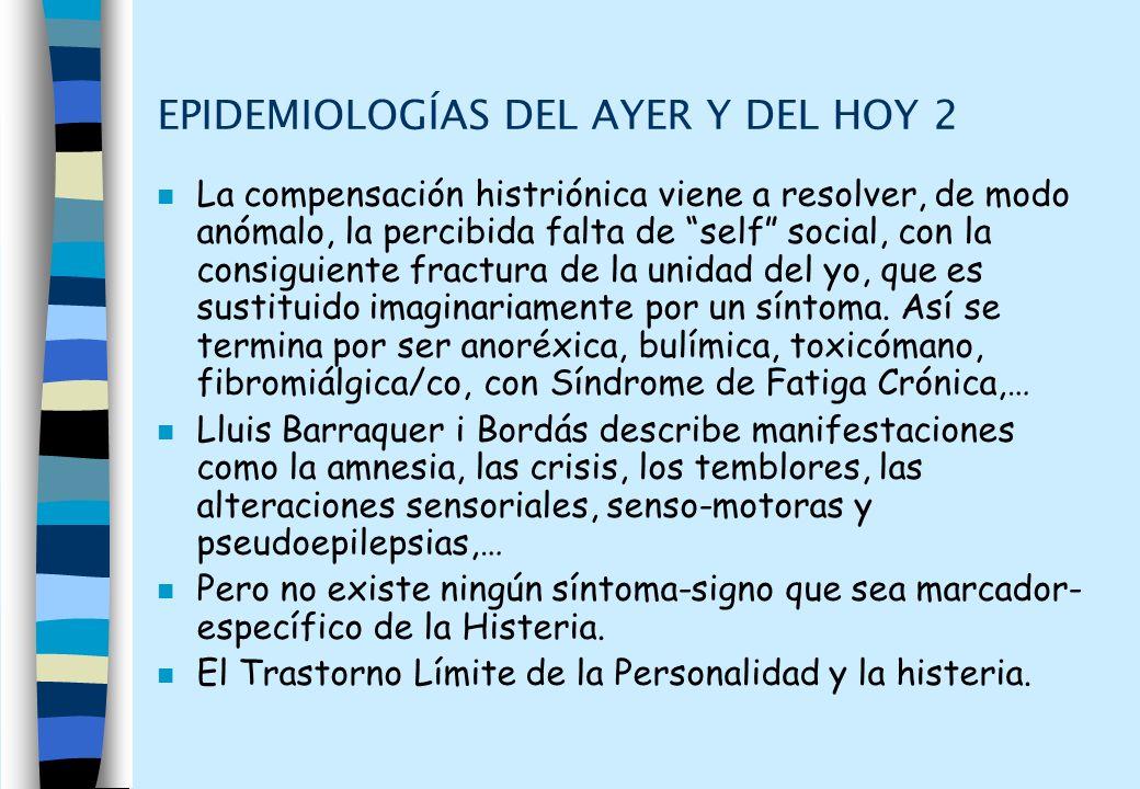 EPIDEMIOLOGÍAS DEL AYER Y DEL HOY 2
