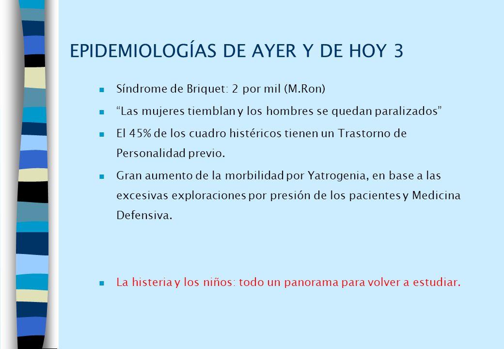 EPIDEMIOLOGÍAS DE AYER Y DE HOY 3