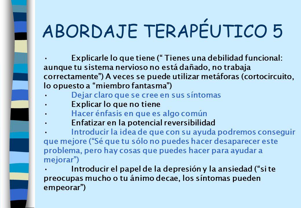 ABORDAJE TERAPÉUTICO 5