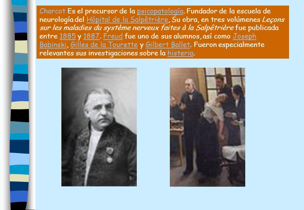 Charcot Es el precursor de la psicopatología