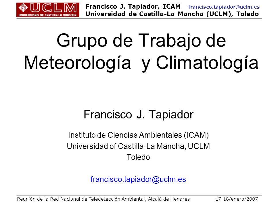 Grupo de Trabajo de Meteorología y Climatología