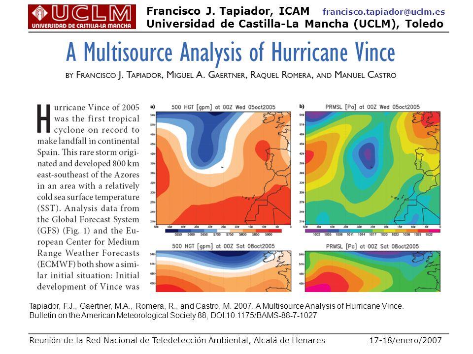 Tapiador, F. J. , Gaertner, M. A. , Romera, R. , and Castro, M. 2007