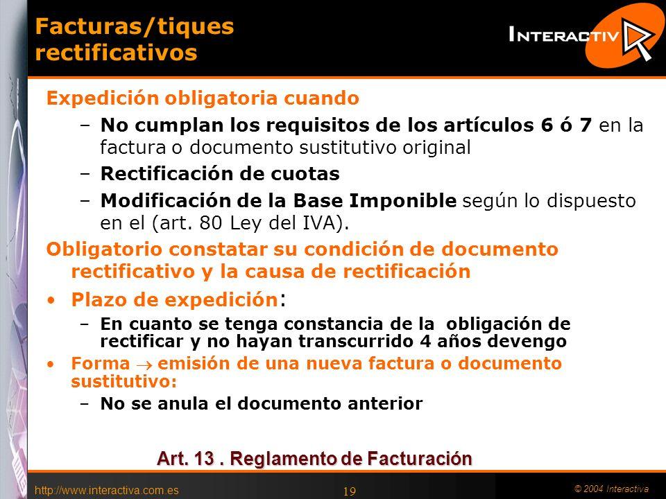 Facturas/tiques rectificativos