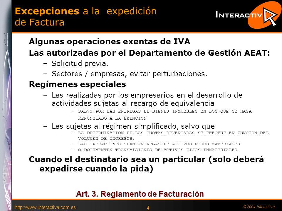 Excepciones a la expedición de Factura