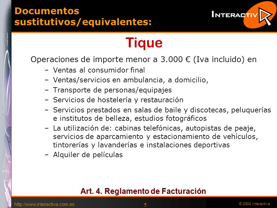 Documentos sustitutivos/equivalentes: