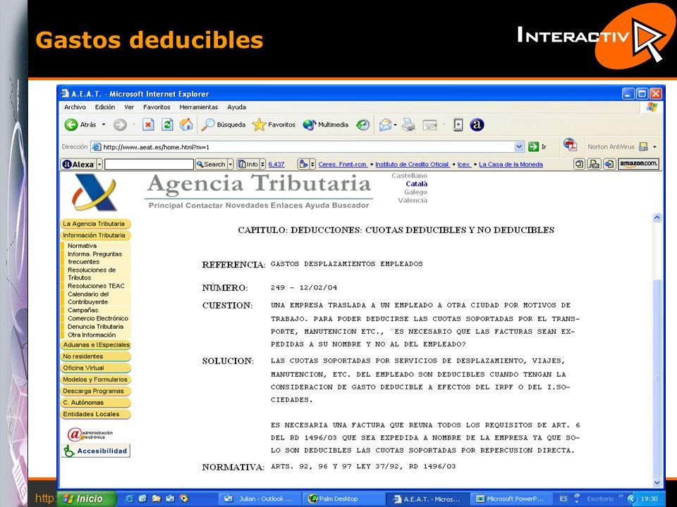 Gastos deducibles http://www.interactiva.com.es © 2004 Interactiva