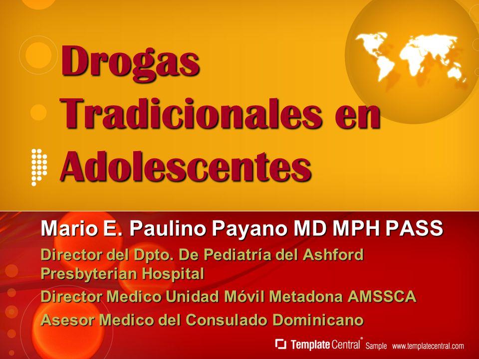 Drogas Tradicionales en Adolescentes