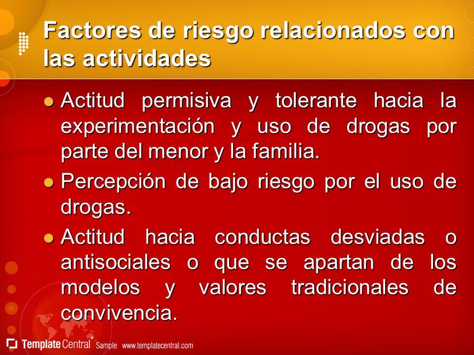 Factores de riesgo relacionados con las actividades