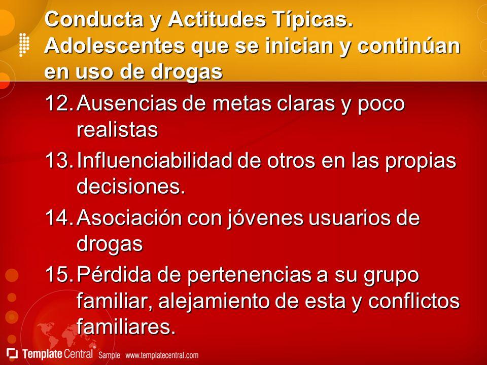 Conducta y Actitudes Típicas