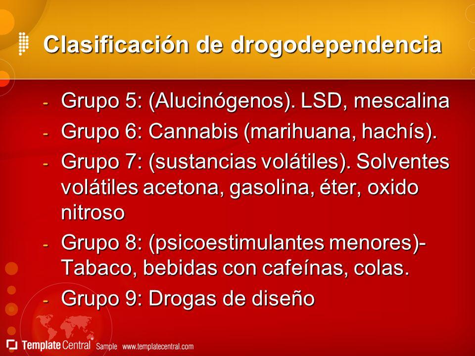 Clasificación de drogodependencia