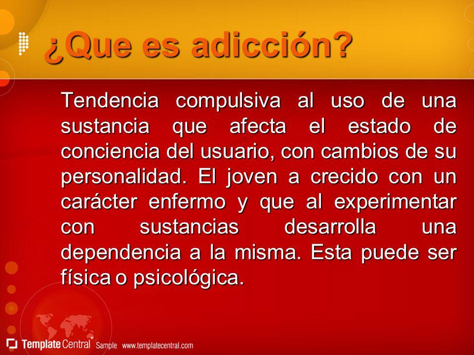 ¿Que es adicción