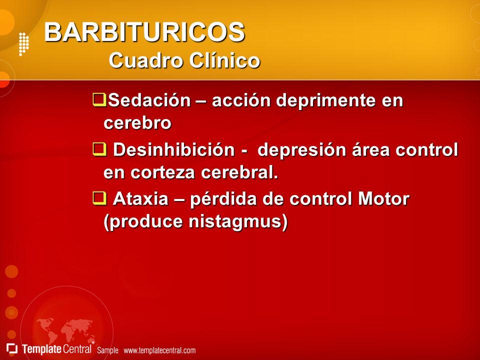 BARBITURICOS Cuadro Clínico
